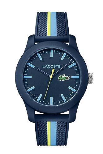 Lacoste Reloj Análogo clásico para Hombre de Cuarzo con Correa en Silicona 2010930: Amazon.es: Relojes