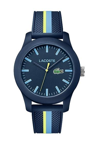d21479de21dc Lacoste Reloj Análogo clásico para Hombre de Cuarzo con Correa en Silicona  2010930  Amazon.es  Relojes