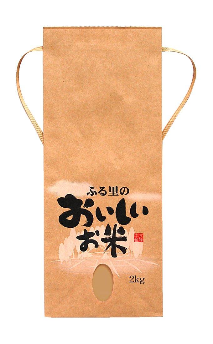 マルタカ クラフト ふる里のおいしいお米(銘柄なし) 2kg用紐付 1ケース(300枚入) KH-0390 B077GK66MP 1ケース(300枚入) 2kg用米袋
