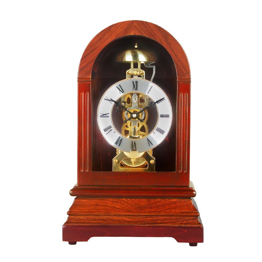 HENSE Regulator Mechanical Wind-Up Mantel Chime Clocks,For Living Room Decorative Solid Wood Clocks Device HD326 by Hense