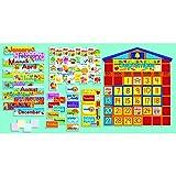 Scholastic SC939405 All-In-One Schoolhouse Calendar Bulletin Board