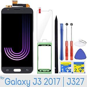 LCD Screen Replacement Touch Digitizer Display for Samsung Galaxy J3 2017 J327 Emerge Prime SM-J327 J327R4 J327T J327T1 J3 Amp Prime 2 SM-J327AZ J327A J327P J3 V 2017 J327V Eclipse J327VPP (Black)