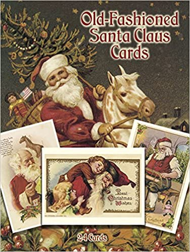old fashioned christmas postcards 24 postcards