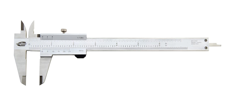 Standard gage 00524001 stainless steel vernier caliper satin chrome finish 1 6 jaw length amazon com industrial scientific
