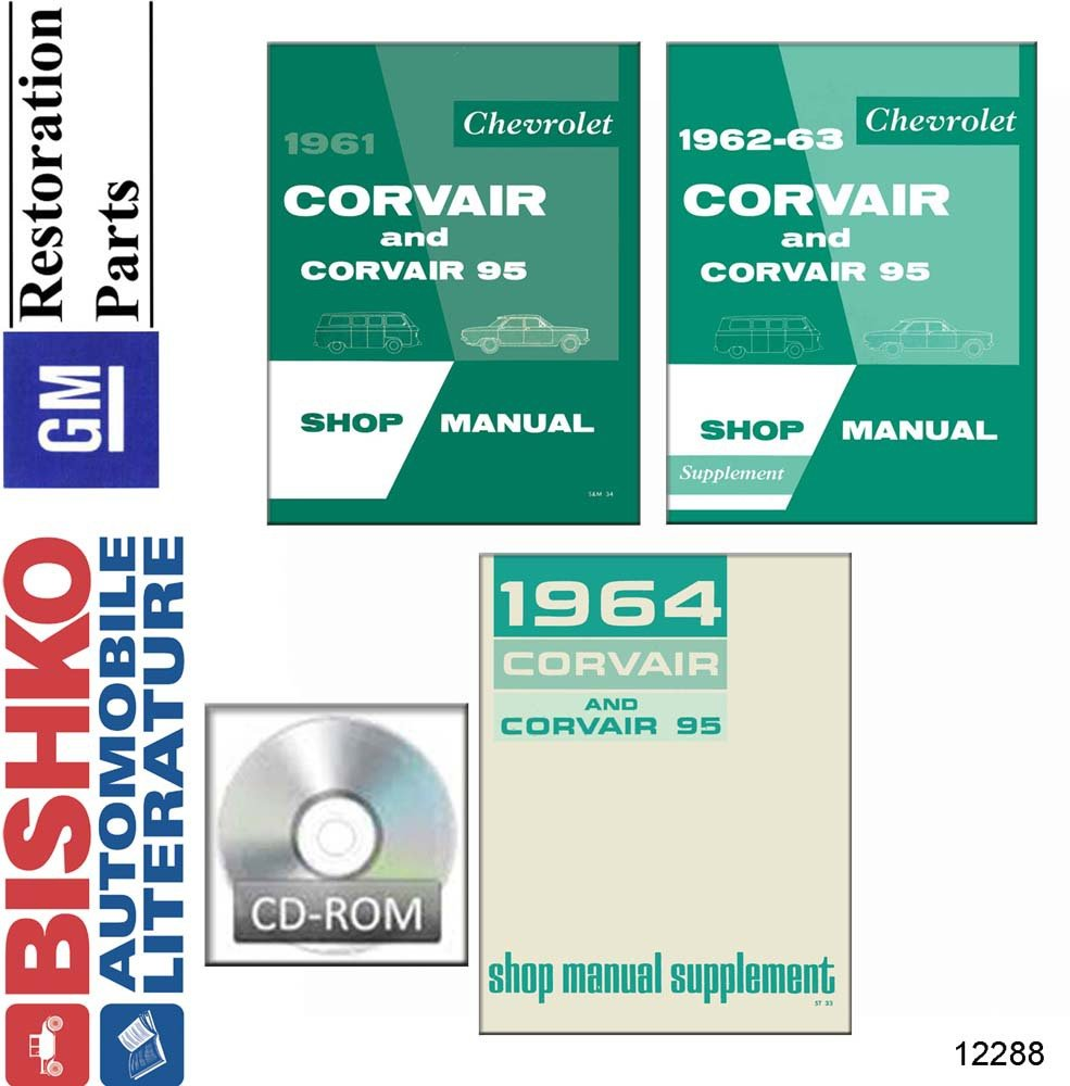 Amazon.com: bishko automotive literature 1961 1962 1963 1964 Chevrolet  Corvair Shop Service Repair Manual CD Engine OEM: Automotive