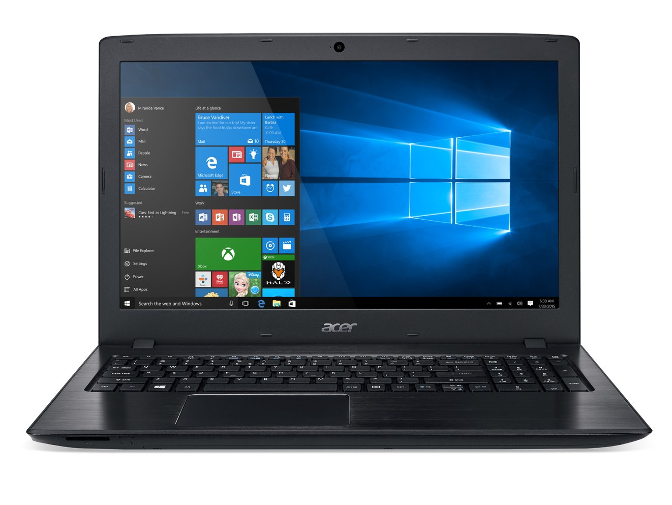 Acer Aspire E 15 E5-575-33BM 15.6-Inch FHD Notebook (Intel Core i3-7100U 7th Generation , 4GB DDR4, 1TB 5400RPM HD, Intel HD Graphics 620, Windows 10 Home), Obsidian Black by Acer
