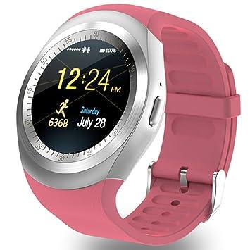 1,22 pulgadas Ronda Bluetooth Smart reloj teléfono con tarjeta SIM TF ranura podómetro Monitor