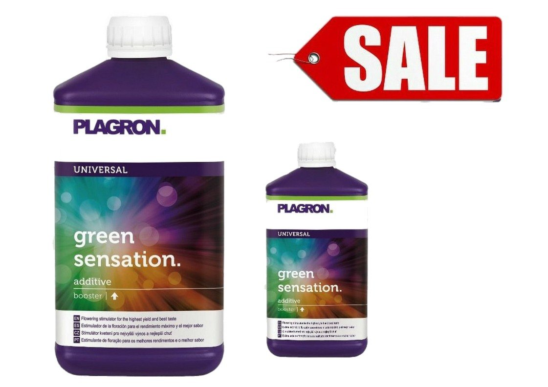 SALE Plagron Green Sensation Activator Flowering Booster Increase Yields 1 litre