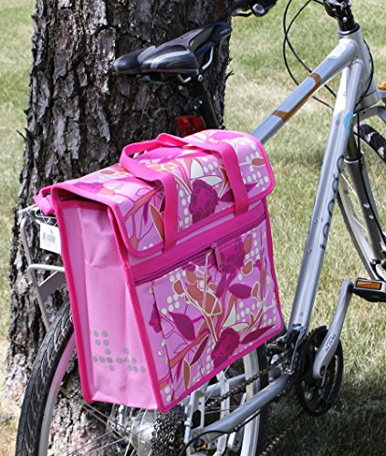 FASTRIDER SHOPPER PEONY Bike Pannier/Bag Pink 17.5L Water Resistant Single (Shopper Pannier)