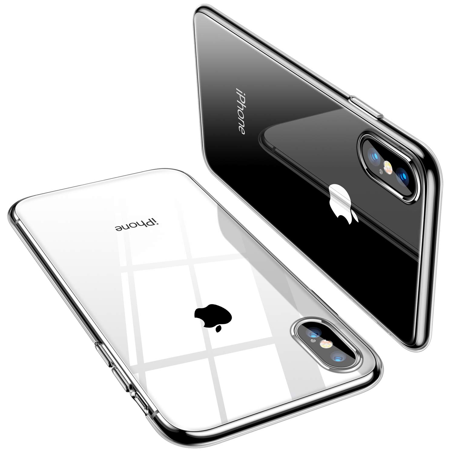 TORRAS Crystal Clear iPhone Xs Max Case, Soft TPU Thin Cover Slim Gel Phone Case for iPhone Xs Max 6.5'' (2018) - Crystal Clear