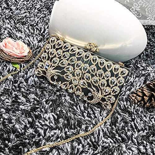 cosmétique Main Sac à de Mariage cluth Femmes Strass de Joy Sac Banquet Robe Sac à Cristal Sac soirée Black pour Pink bandoulière Main Color à discothèques Occasionnel Miss qSOanPUS