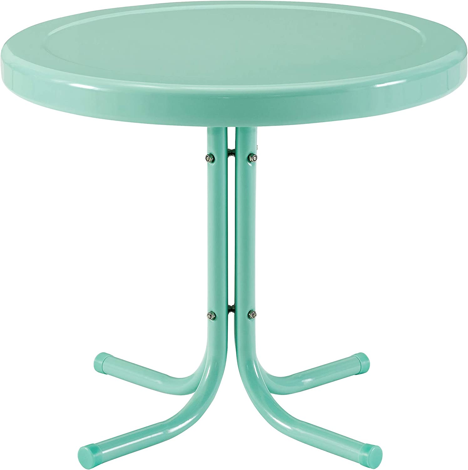Crosley Furniture CO1011A-AQ Griffith Retro Metal Outdoor Side Table, Aqua
