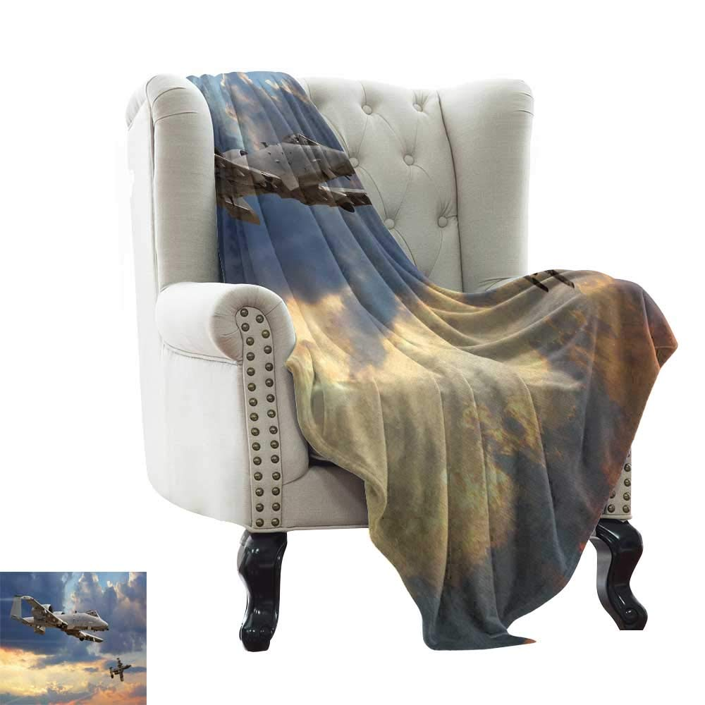 color11 50 x60  Inch Wearable Blanket Airplane,Old School Plane Flying Between Clouds Model Aviation Traveling Illustration,Cream bluee Red Sofa Super Soft, Plush, Fuzzy Microfiber Throw Reversible,Comfy 50 x60