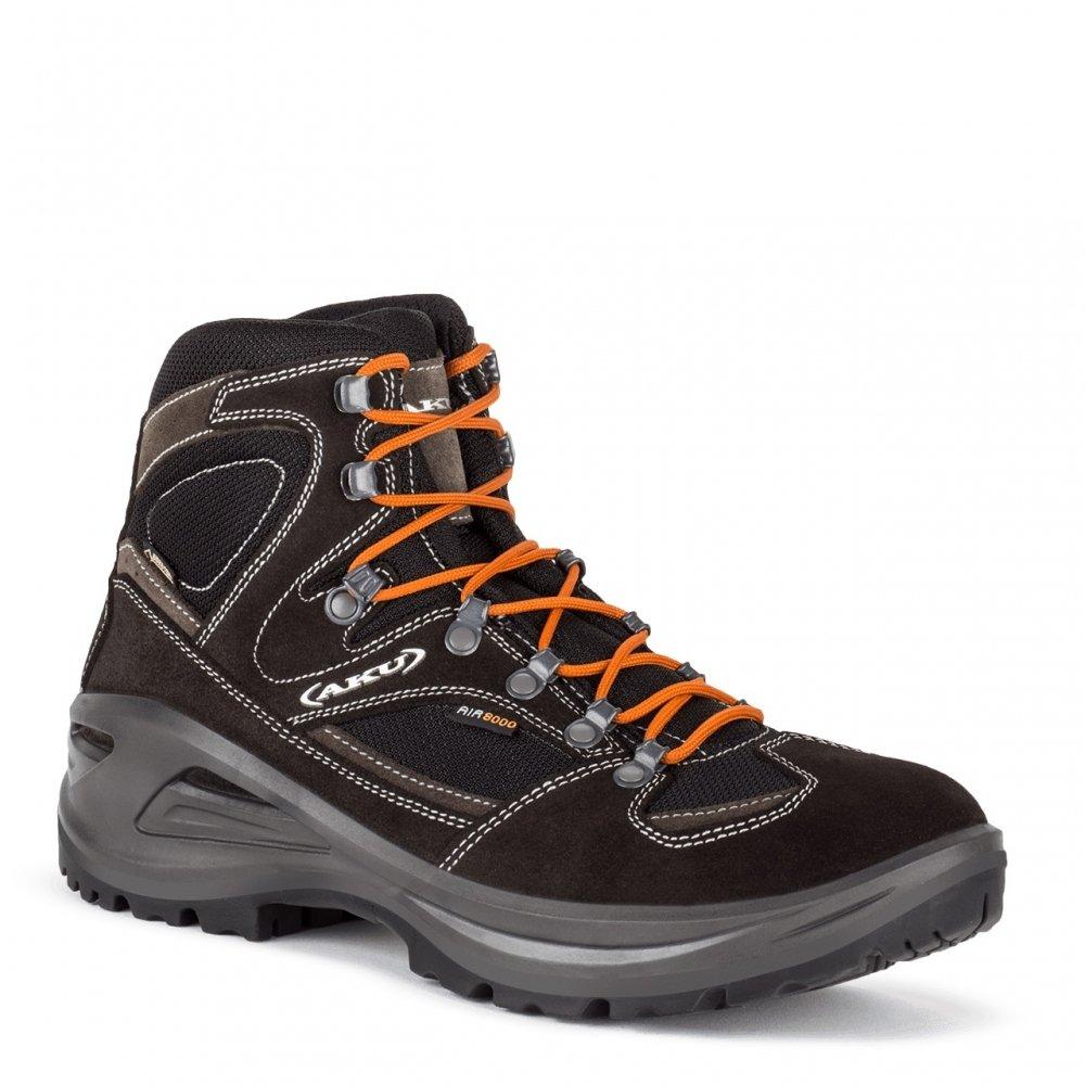 AKU Sendera GTX - Schwarz   Orange - EU 41.5   UK 7.5   US 8 - Komfortabler wasserdichter Gore-Tex® Wanderschuh