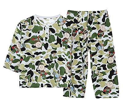 LLIOFUS Little Boys&Girl Breathable Soft cotton sleepwear Buttom Pajama set 6M-6T