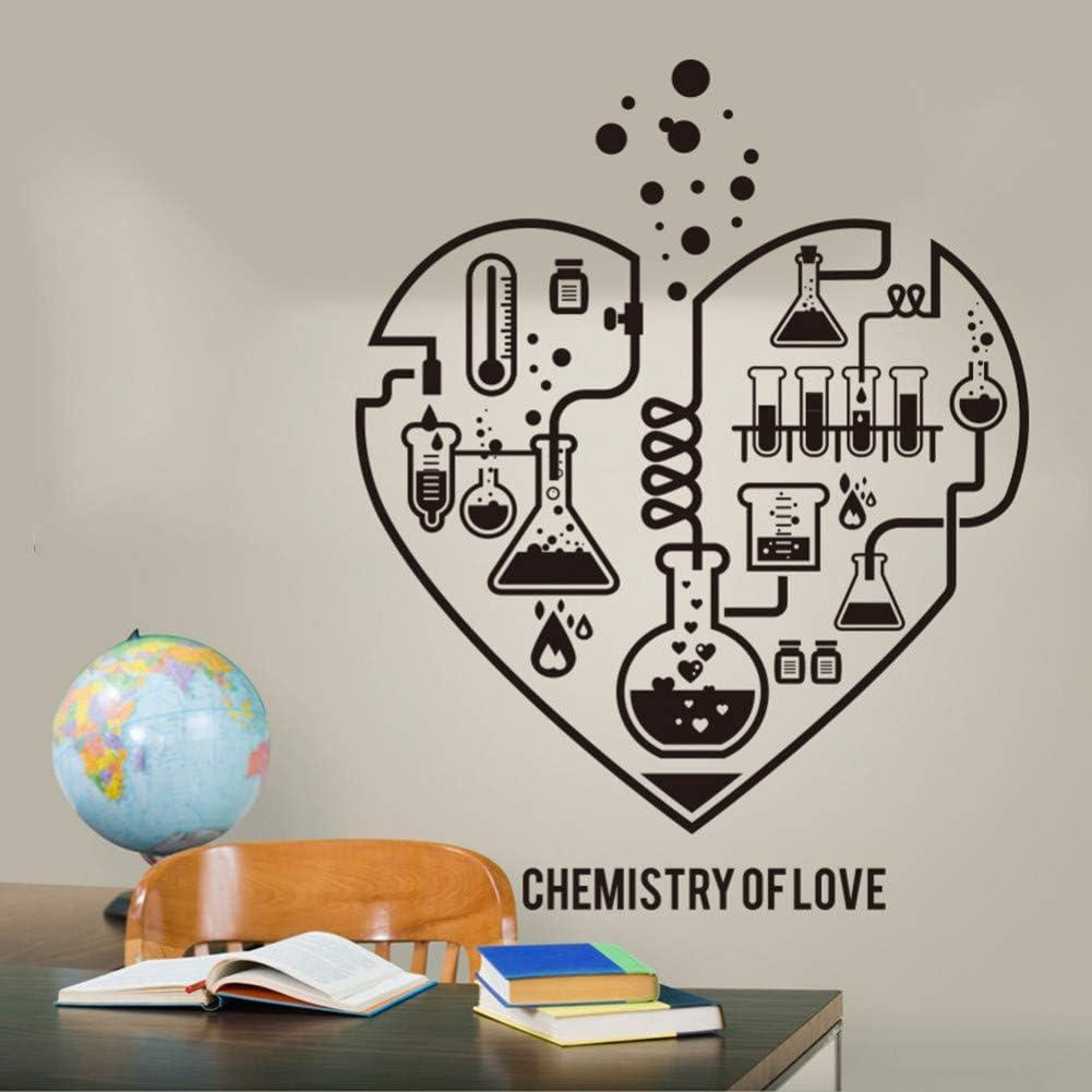 Diseño Química Ciencia Resumen Corazón Vinilo para la Pared Laboratorio Aula Friki Química Cartel Fondo de Pantalla