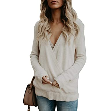 b8a6d6d5fd PRETTYHOMEL Womens Thin Dolman Long Sleeve Top Knit Pullover Blouse Top at  Amazon Women s Clothing store