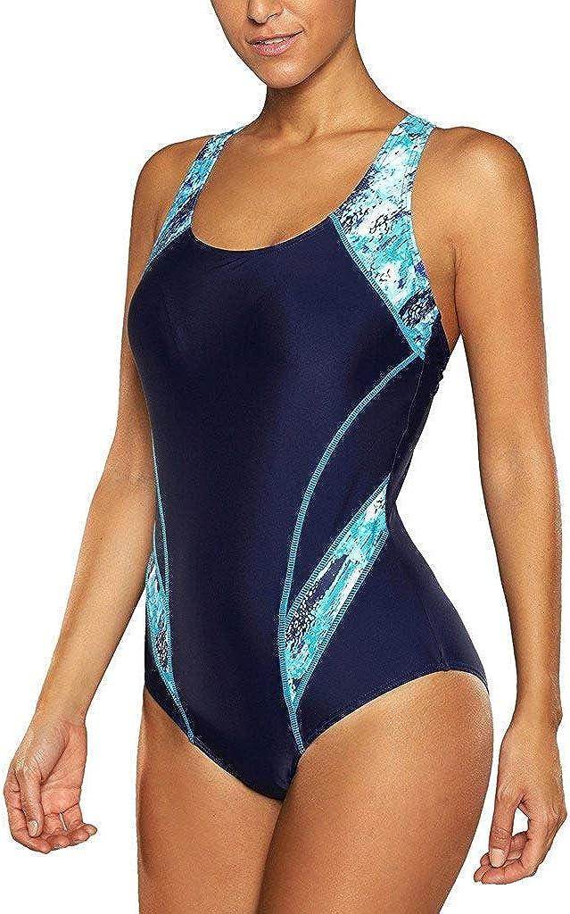 CharmLeaks Women's Sport Pro One Piece Swimsuit Athletic Racerback Swimwear