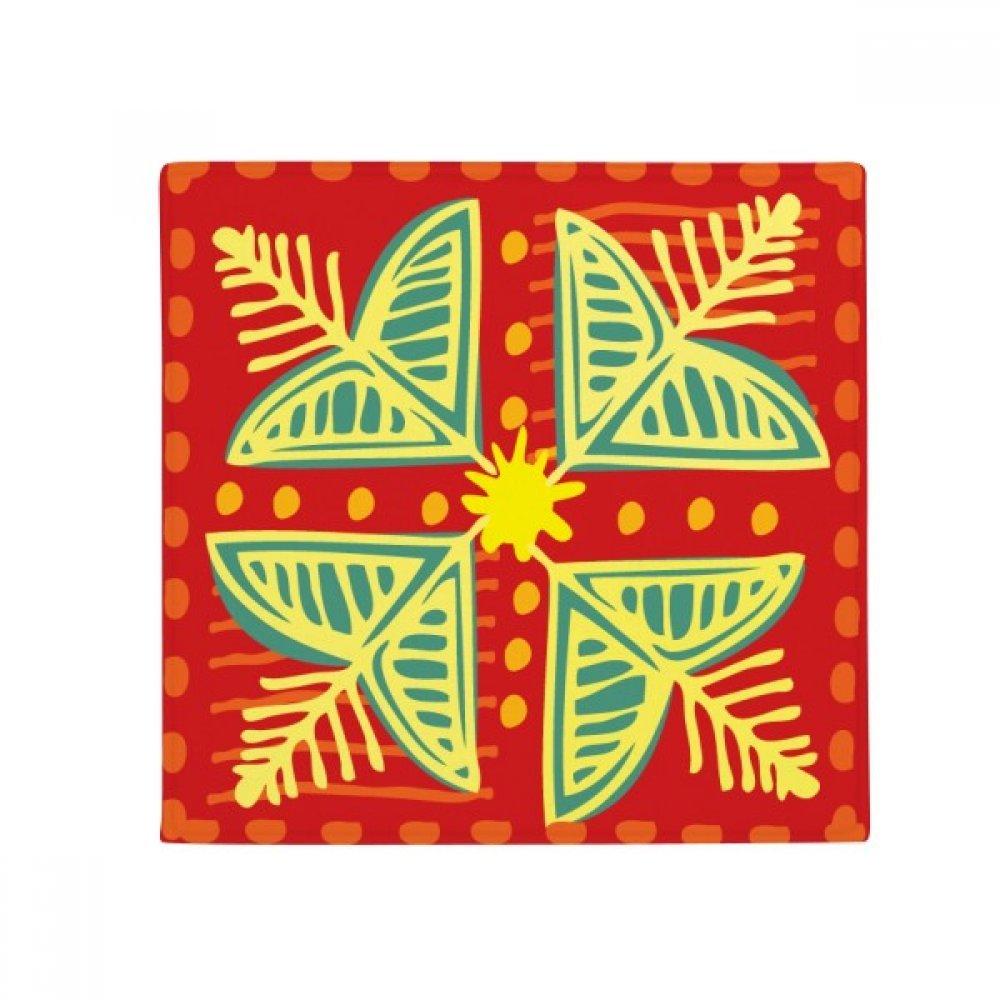 DIYthinker Flowers Plants Mexico Totems Ancient Civilization Anti-Slip Floor Pet Mat Square Home Kitchen Door 80Cm Gift
