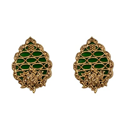 5fa61bb39 Buy Taj Pearl Women's Stylish Fancy Party Wear Designer Multicolor Alloy Stud  Earrings Fashion Jewellery Online at Low Prices in India | Amazon Jewellery  ...