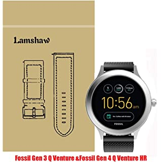 Lamshaw Smartwatch Band for Fossil Q Venture, Milanese Metal Stainless Steel Mesh Replacement Strap for