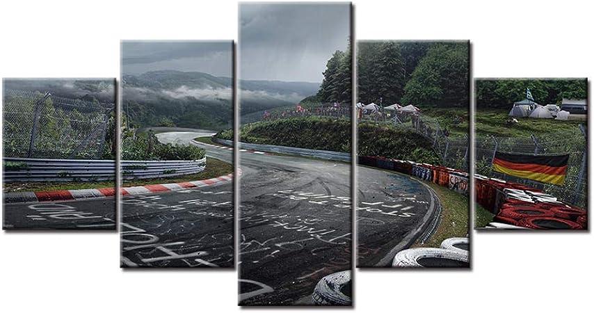 Swallow 5 Paneles Nurburgring Rally Road Impreso en Lienzo Cuadros ...