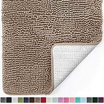 Amazon Com Luxury Taupe Beige Microfiber Chenille Loop Bath Rugs