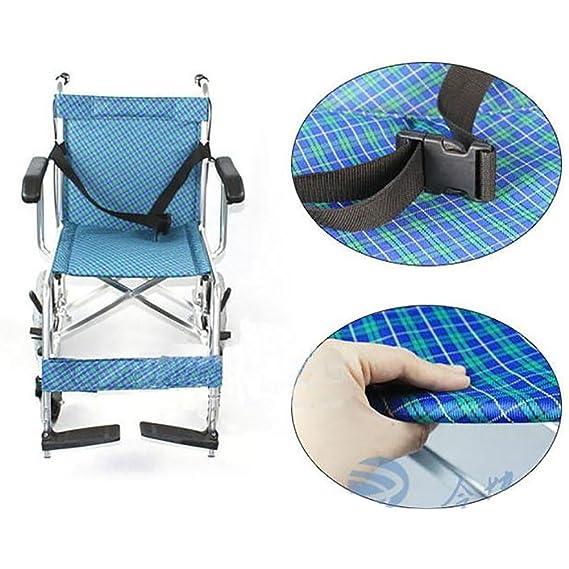 GUO Aluminio ligero empuje portátil plegable pequeña rueda delantera silla de ruedas ancianos: Amazon.es: Deportes y aire libre