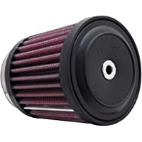 K&N RE-0280 Universal Clamp-On Air Filter: Round Tapered; 2 in (51 mm) Flange ID; 3.5 in (89 mm) Height; 3 in (76 mm…