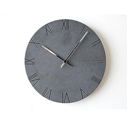 ZHB Reloj Relojes y Relojes Modernos Simples Relojes creativos Relojes Circulares Sala de Estar Mudo Reloj