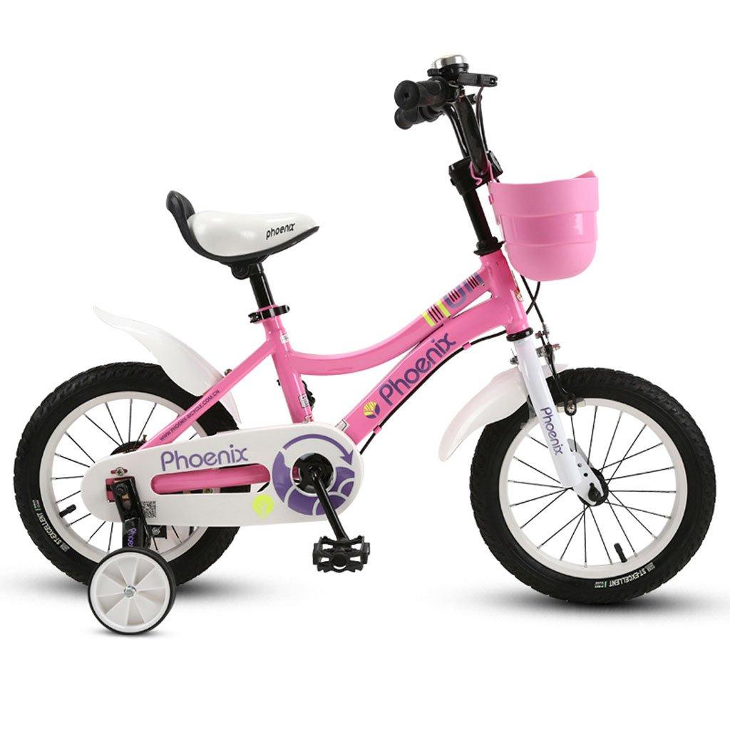 子供の自転車12/14/16/18インチのガール自転車2-4-6歳のベビーカーの子供の自転車ピンク ( Size : 14 inches )   B07DRC938M