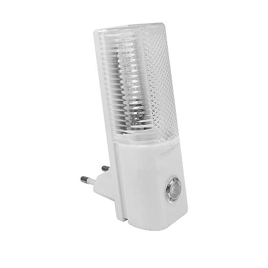 Luz nocturna de 3LED con sensor crepuscular, ahorro energético y detector
