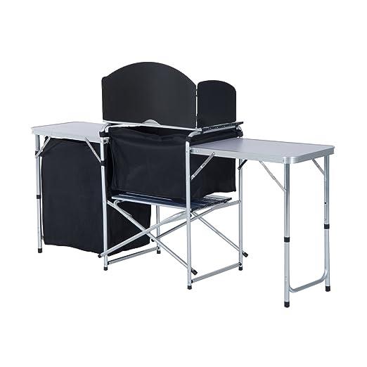 Eight24hours Camping mesa de picnic de cocina, armario plegable ...