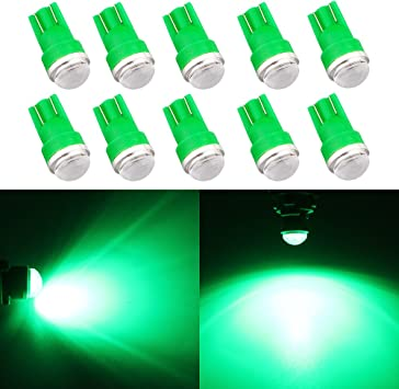 10Pcs T10 168 194 W5W 5630 5730 2SMD with Lens Led Interior Light Bulbs 12V DC