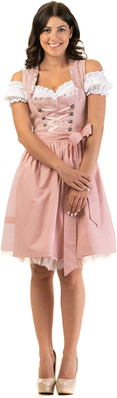 Trachtl.de Dirndl Trachtenkleid Damen LEA IN ROSA 3.TLG