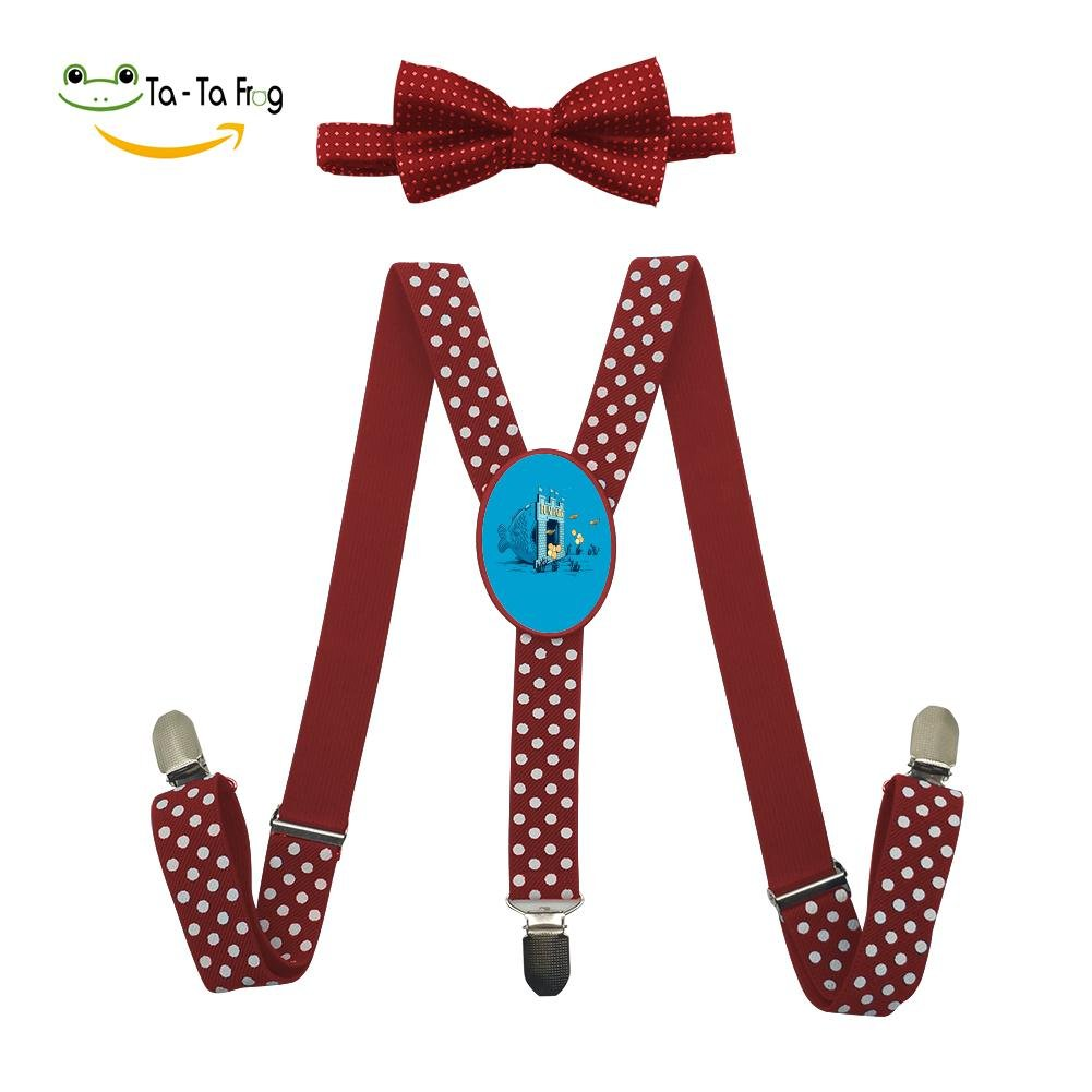 Xiacai Fun Trap Suspender/&Bow Tie Set Adjustable Clip-On Y-Suspender Kids