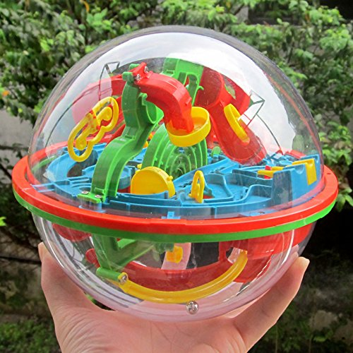 VKOPA Intellect 3D Maze Ball Best Gift Independent Play for Children 7-15 Years Containing 100 Challenging Barriers ()