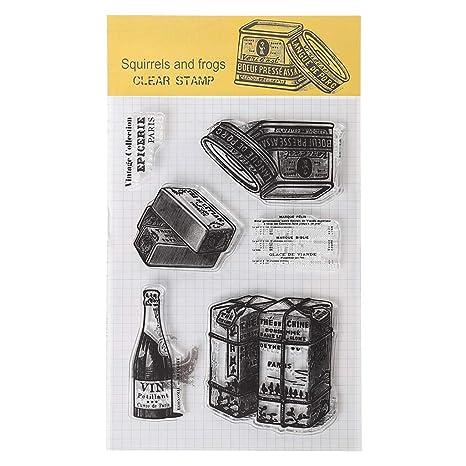 Ranuw Timbre Clair,/Écureuil Silicone Clear Stamp Cling Seal Journal De Bricolage Scrapbooking Gaufrage Album D/écor Artisanat Cadeau