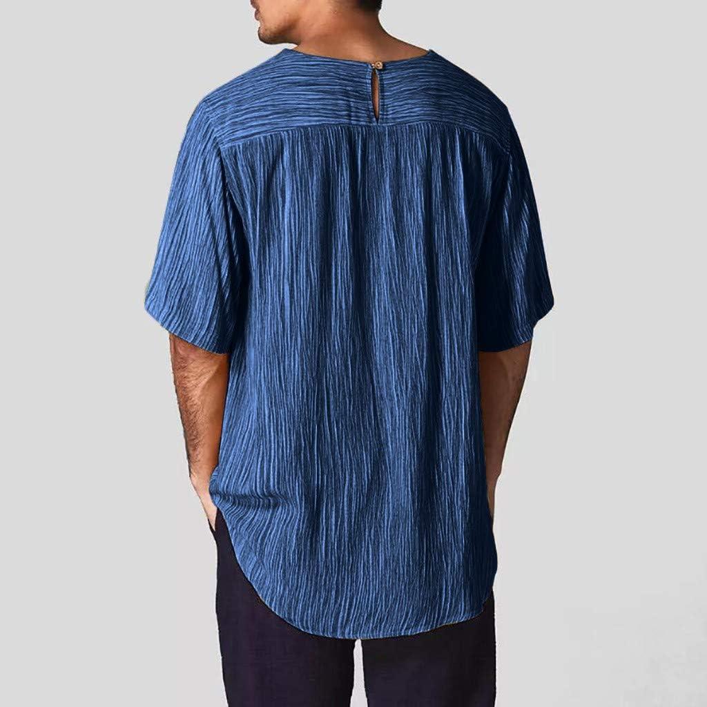 MOTOCO Camiseta de Rayas de Manga Larga/Suelta con Cuello en O ...