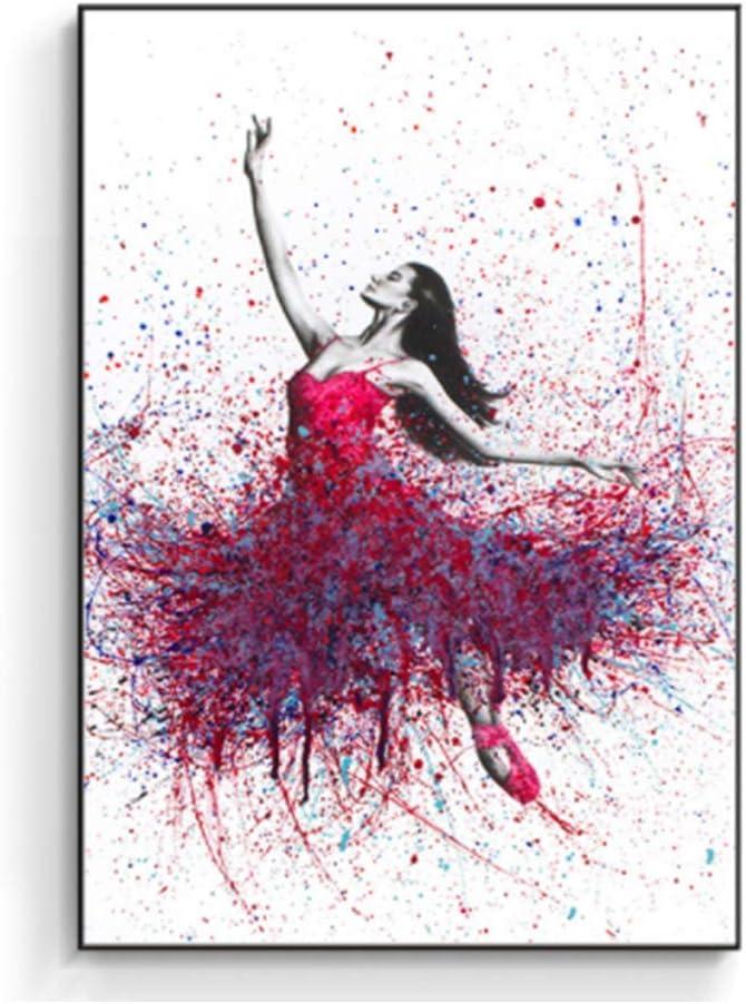 Ballerina in turquoise oil painting Ballerina original picture Ballerina wall art