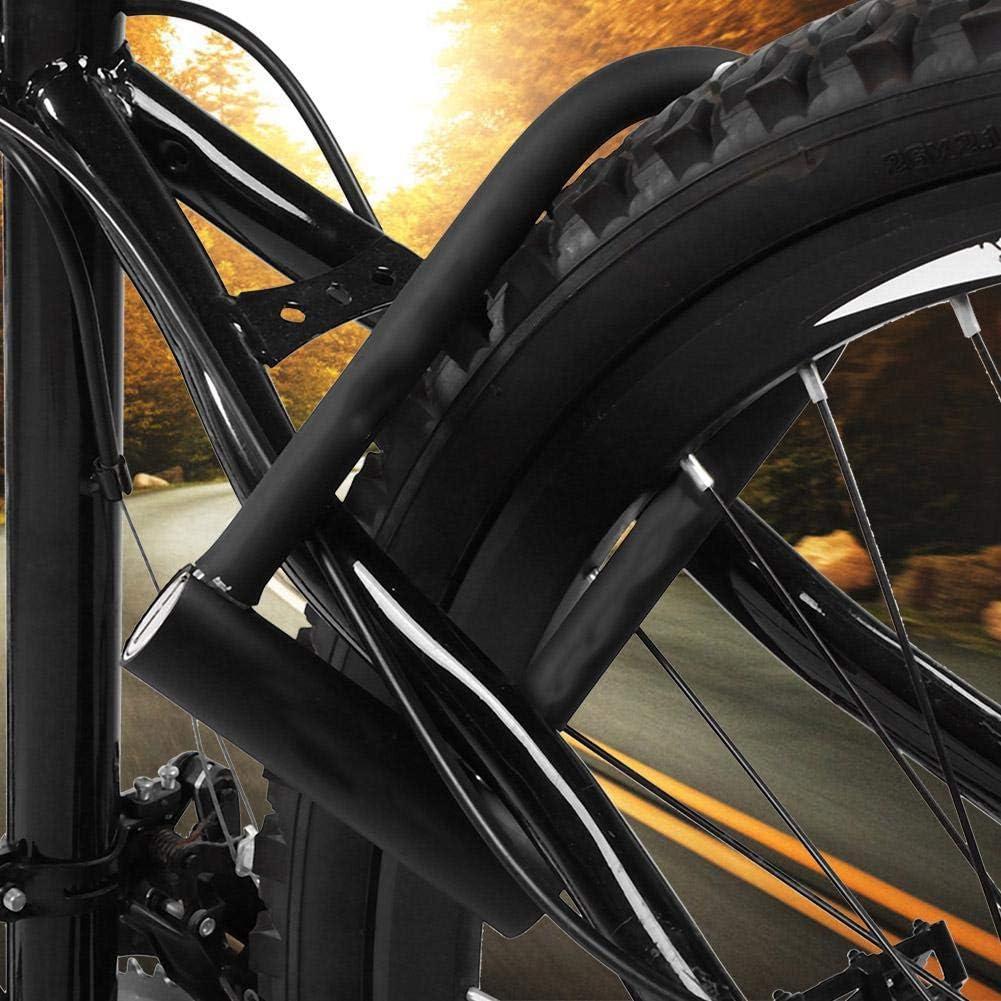Vbestlife Bicycle U Lock Bike Lock Steel Anti-Theft Lock Waterproof Rustproof Pure Copper Core Locks with 2 Keys