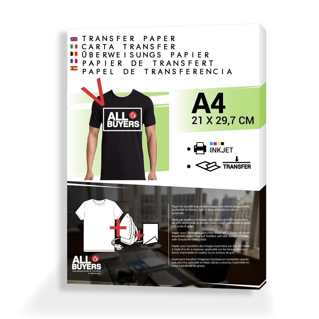 a47c5c472d Papel transfer para impresión para camisetas - A4 - Transferencia de lavabo  sobre eslabones Col Hierro de planchar X 10 hojas A4 para camisetas - 2  aintimo® ...