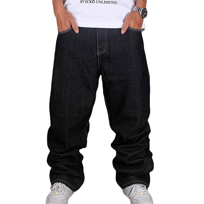 Dexinx Niños Hombres de Sólida Simple Hip Hop Color Jeans Pantalones de la  Calle de Noche Urban Baile Dril de Algodón largas Negro 42  Amazon.es  Ropa  y ... 60cd5fdbef4
