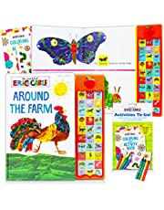 Eric Carle Sound Books Set for Kids Toddlers - Around The Farm World of Eric Carle Board Book Bundle with Coloring Book and Stickers (Eric Carle Books for Kids)