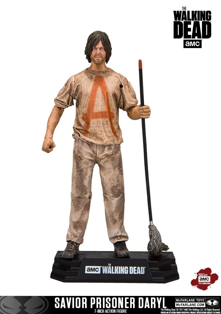 McFarlane Toys The Walking Dead TV Savior Prisoner Daryl Collectible Action Figure Imports Dragon Toys CA 14682-0