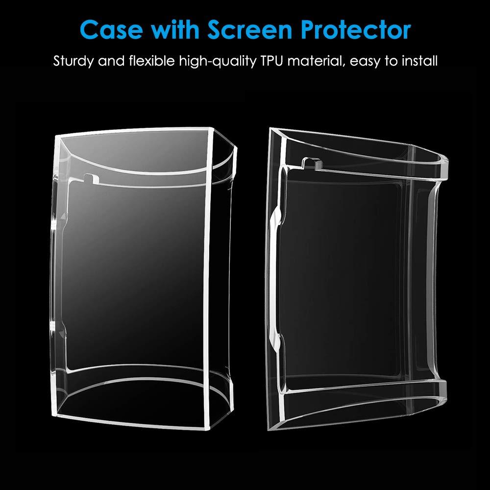 Clair /& Clair CAVN Compatible Fitbit Charge 3 Protection /écran Coque Protecteur /étui Rechargeable TPU Couverture Compl/ète Ultra Mince Anti-Rayures Anti-Choc /écran /étui Pack de 2