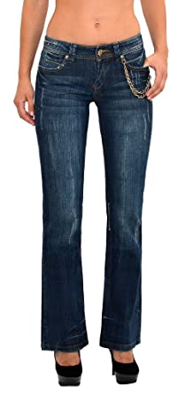 9c3dedf114df Damen Jeans Damen Bootcut Jeanshose Schlaghose Damen Hüftjeans Hüfthose in  aktuellen Designs J170