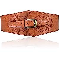 Miss Callory Corset Belt Elastic Stretch Belt Women's Fashion Wide Faux Leather Waist Belt Stretchy Corset Cinch Belt…