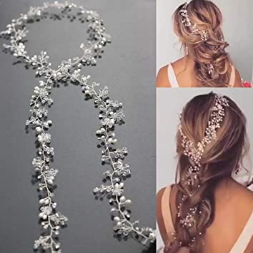 Amazon Com Missgrace Bridal Silver Gold And Rose Gold Hair Vine Extra Large Bridal Headpiece Wedding Hair Accessories Wedding Hair Vine Long Bridal Headpiece Wedding Hair Piece 100cm 39 4in Gold Beauty