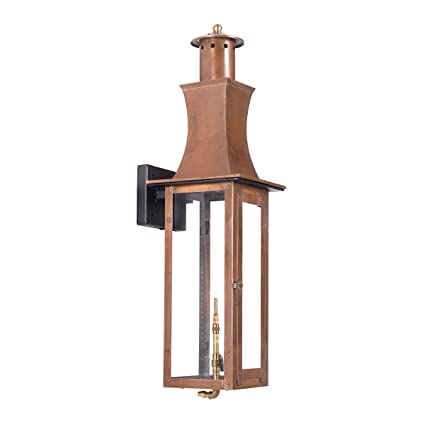Amazon elk lighting maryville outdoor gas wall lantern in aged elk lighting maryville outdoor gas wall lantern in aged copper aloadofball Image collections